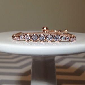 Jewelry - Adjustable Rose gold diamond encrusted bracelet 💎